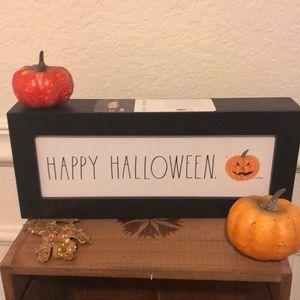 Rae Dunn happy Halloween sign